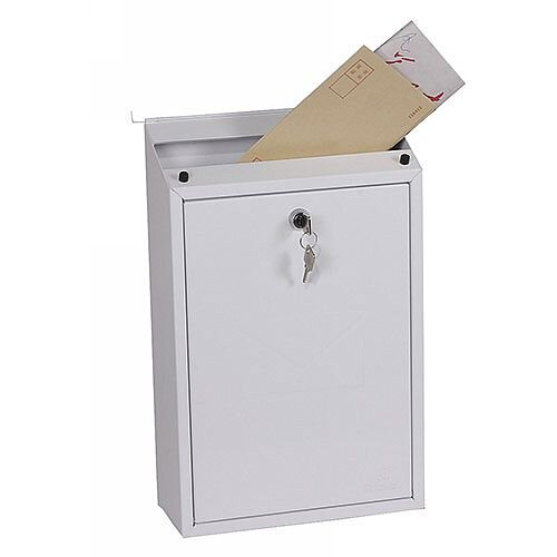 Phoenix Villa MB0114KW Top Loading Mail Box in White with Key Lock