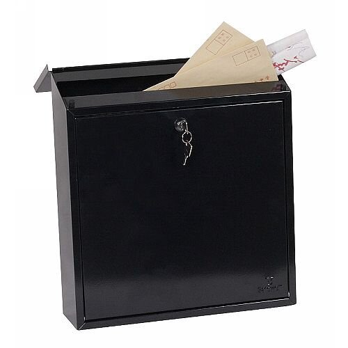 Phoenix Clasico MB0117KB Front Loading Mail Box in Black with Key Lock Black