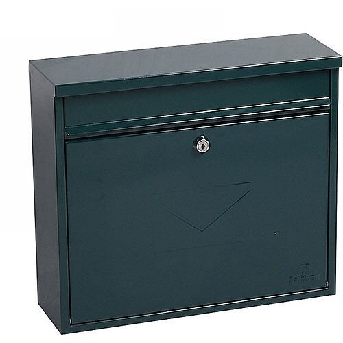 Phoenix Correo MB0118KG Front Loading Mail Box in Green with Key Lock Green