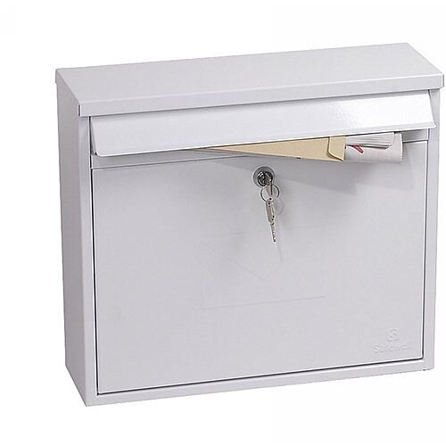 Phoenix Correo MB0118KW Front Loading Mail Box in White with Key Lock White