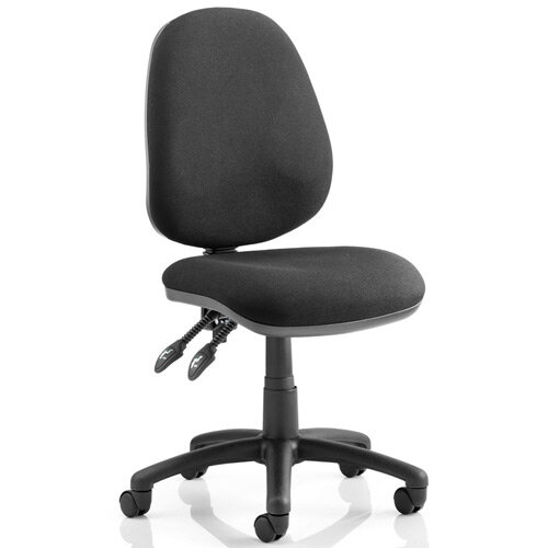 Luna II Lever Task Operator Office Chair Black Without Arms