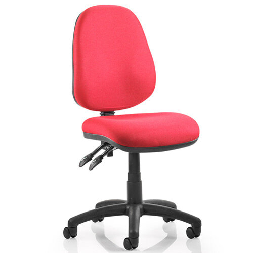 Luna II Lever Task Operator Office Chair Burgundy Without Arms