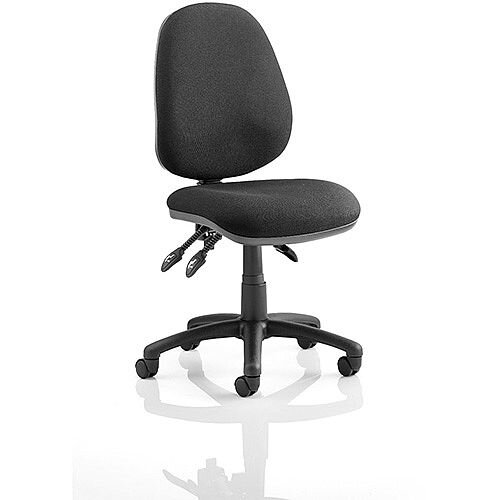 Luna III Lever Task Operator Office Chair Black Without Arms