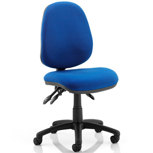 Luna III Lever Task Operator Office Chair Blue Without Arms