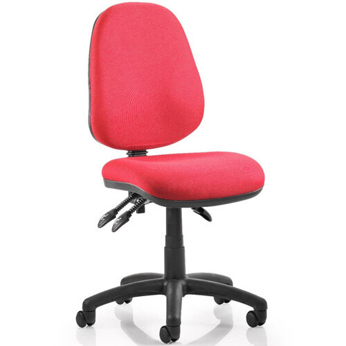 Luna III Lever Task Operator Office Chair Burgundy Without Arms