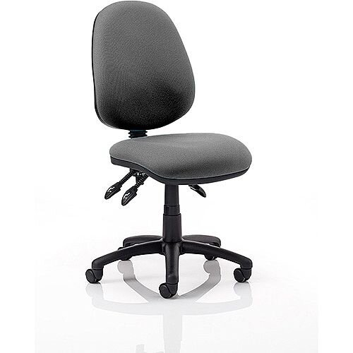 Luna III Lever Task Operator Office Chair Charcoal Without Arms