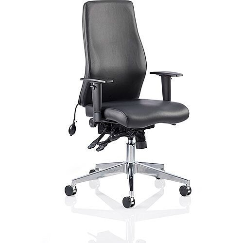 Onyx Ergo Posture Office Chair Black Bonded Leather With Arms