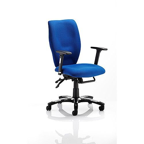 Sierra Executive Office Chair Blue Fabric With Arms