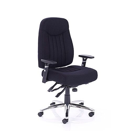 Barcelona Plus Task Operator Office Chair Black Fabric With Arms