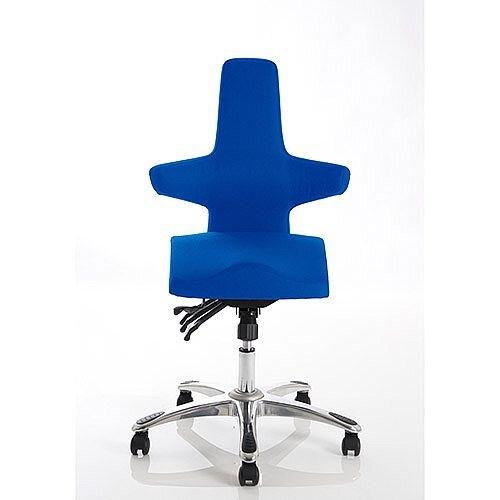 Saltire Ergonomic Posture Office Chair Blue Fabric