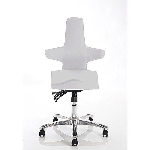 Saltire Ergonomic Posture Office Chair Ivory Fabric