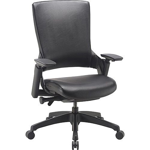 Molet Task Exec Black Frame Black Leather Office Chair