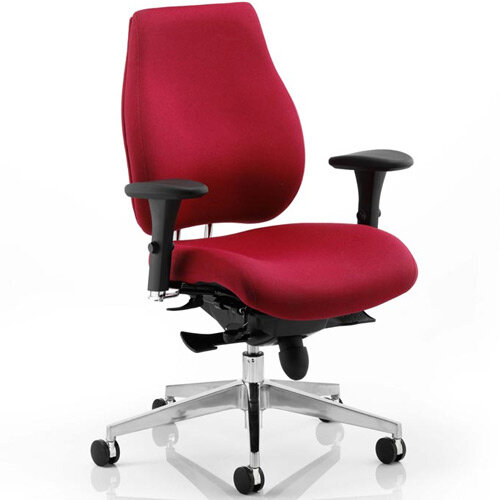 Chiro Plus Ergo Posture Office Chair Wine With Arms