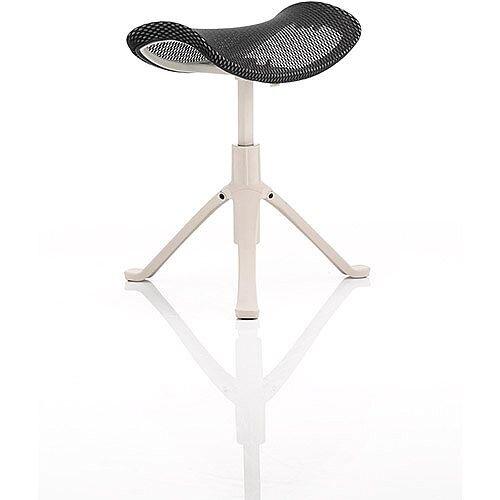 Ergo-Dynamic Footstool Grey Frame Black Mesh