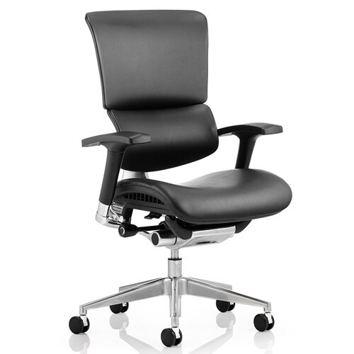 Ergo-Dynamic Black Frame Bonded Leather Posture Chair