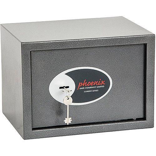 Phoenix Vela Home &Office SS0802K Size 2 Security Safe with Key Lock Metalic Graphite 17L