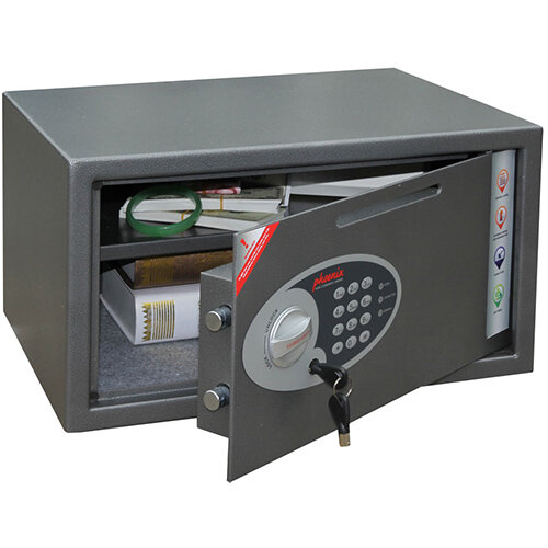 Phoenix Vela Deposit Home &Office SS0803ED Size 3 Security Safe with Electronic Lock Metalic Graphite 34L