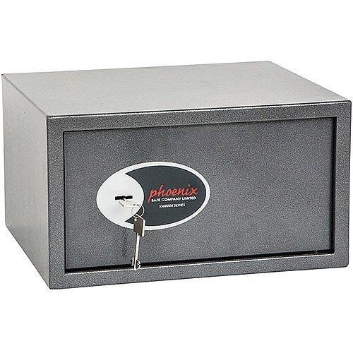 Phoenix Vela Home &Office SS0803K Size 3 Security Safe with Key Lock Metalic Graphite 34L