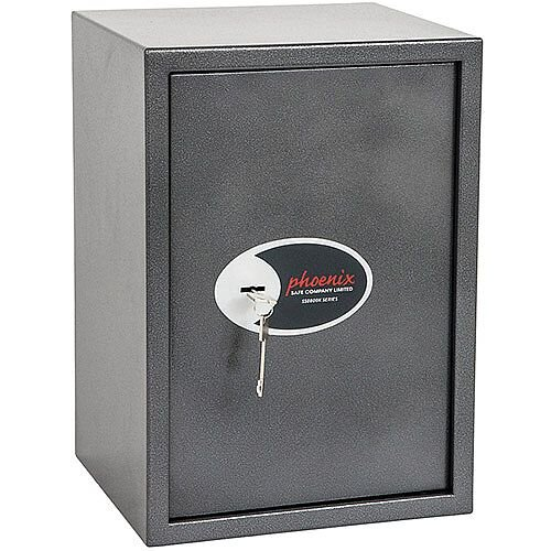 Phoenix Vela Home &Office SS0804K Size 4 Security Safe with Key Lock Metalic Graphite 51L