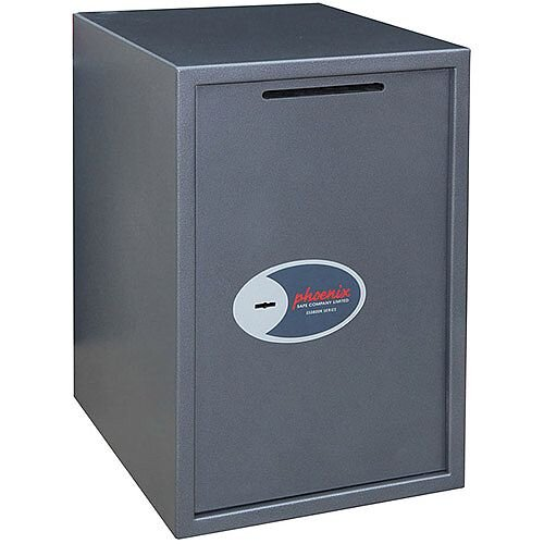 Phoenix Vela Deposit Home &Office SS0805KD Size 5 Security Safe with Key Lock Metalic Graphite 88L