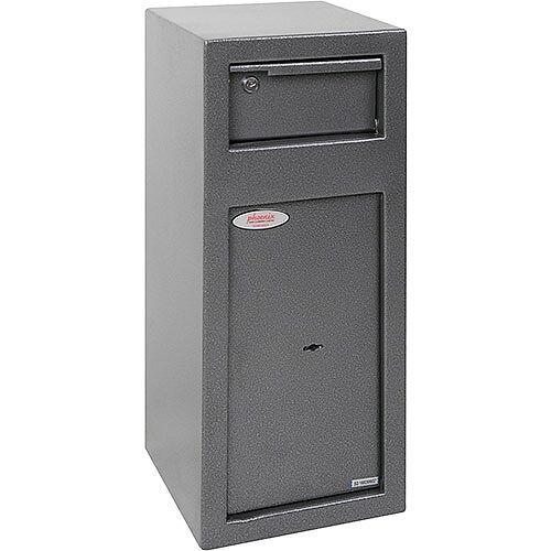 Phoenix SS0992KD Cashier Day Deposit Security Safe with Key Locks Metalic Graphite