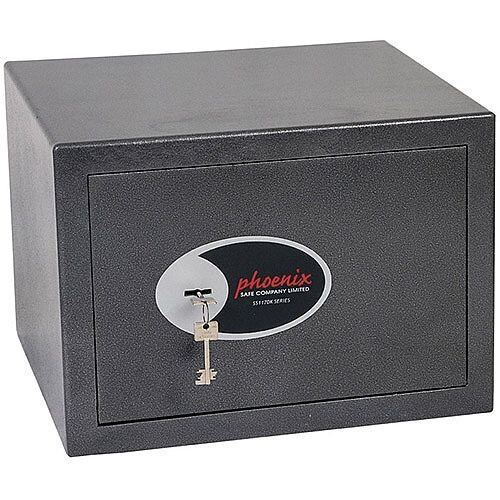 Phoenix Lynx SS1172K Size 2 Security Safe with Key Lock Metalic Graphite 22L