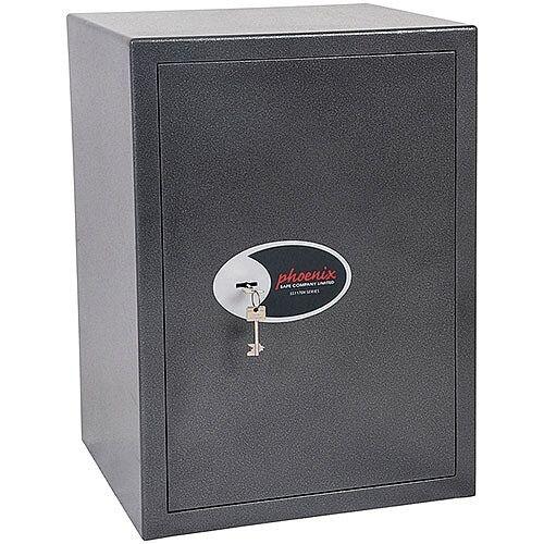 Phoenix Lynx SS1173K Size 3 Security Safe with Key Lock Metalic Graphite 52L