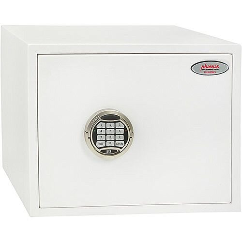 Phoenix Fortress SS1182E Size 2 S2 Security Safe with Electronic Lock White 24L