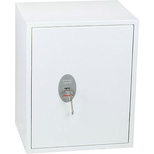 Phoenix Fortress SS1183K Size 3 S2 Security Safe with Key Lock White 42L