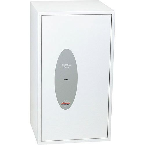 Phoenix Fortress SS1184K Size 4 S2 Security Safe with Key Lock White 74L
