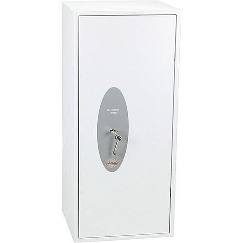 Phoenix Fortress SS1185K Size 5 S2 Security Safe with Key Lock White 99L