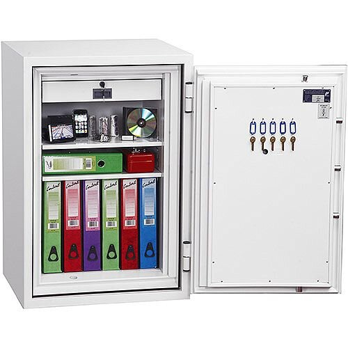 Phoenix Fire Fox SS1621E Size 1 Fire &S1 Security Safe with Electronic Lock White 129L 120min Fire Protection