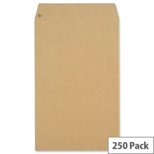 New Guardian Pocket Envelopes 353x229mm 130gsm Peel and Seal Easy Open Manilla Pack of 250