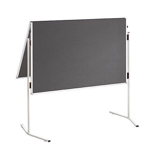 Franken ECO Training Board Felt Grey Foldable 1200x1500mm ECO-UMTF-G12
