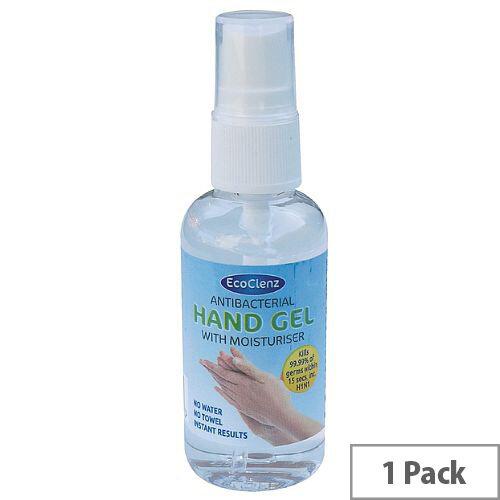 Ecoclenz Antibacterial Hand Gel Sanitiser Bottle 50ml (Pack 1)