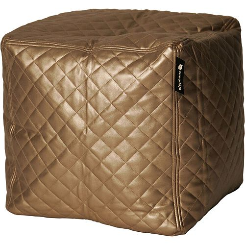 Elephant Cube Chair 350x350x400mm Gold Quilted