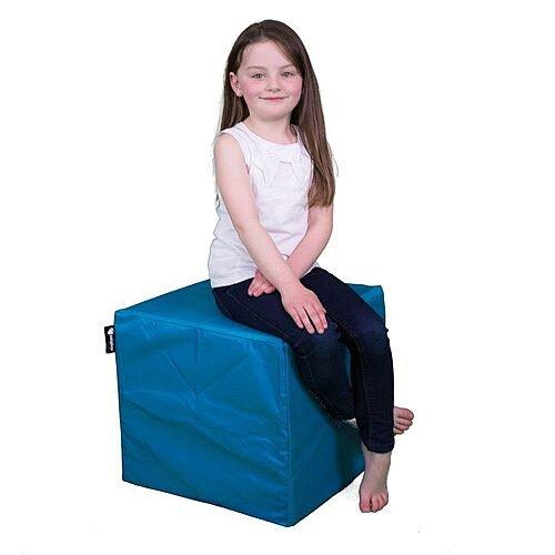 Elephant Cube Chair 450x450x400mm Ocean Turquoise