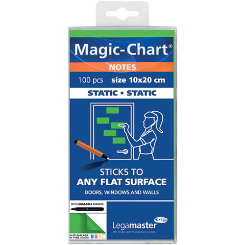 Legamaster Magic Notes 20X10cm Green Pack of 100 7-159404