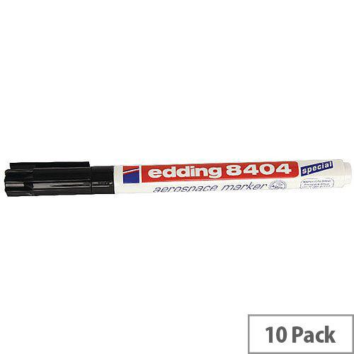 Edding Marker Aerospace Black Pack of 10 8404-001