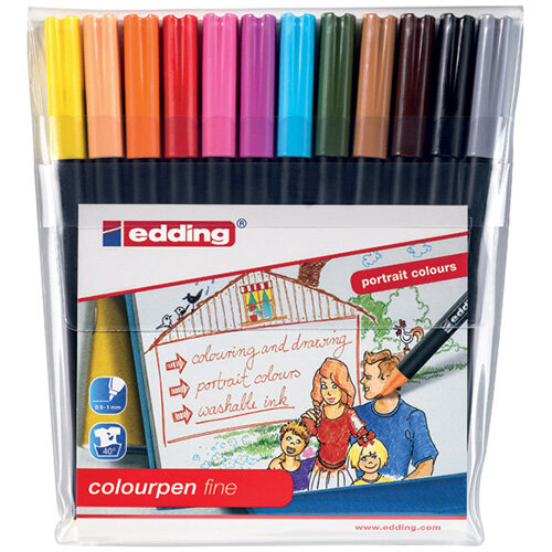 Edding Colour Pen Fine Pack of 12 1421999