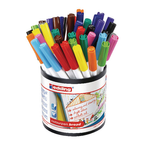 Edding Colourpen Broad Assorted Pack of 42 1406000