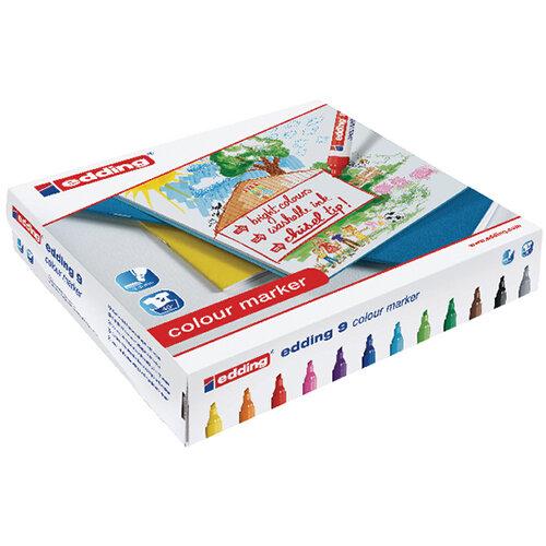 Edding 9 Marker Chisel Tip Assorted Pack of 144 300459000