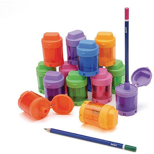 Pencil Sharpener 1-hole Cannister Pack 12