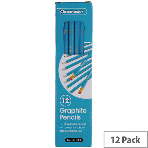 Classmaster HB Pencils Eraser Tip GP12HBET