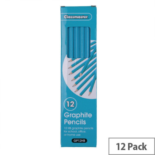 Classmaster Classroom Graphite HB Pencils Pack 12