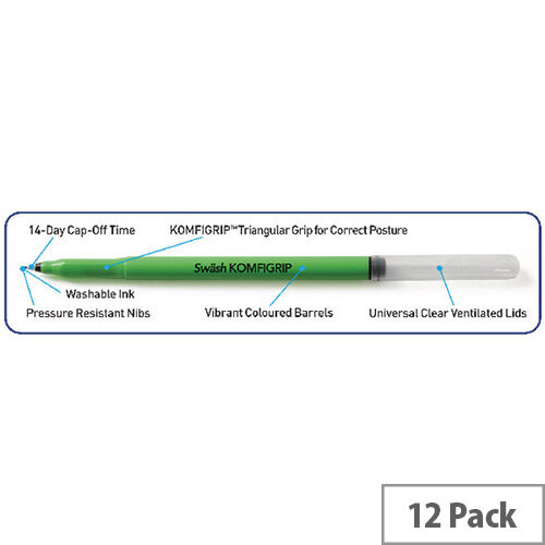 Eastpoint Pk12 Swash Komfigrip Handwriting Pen Black Thw12Bk