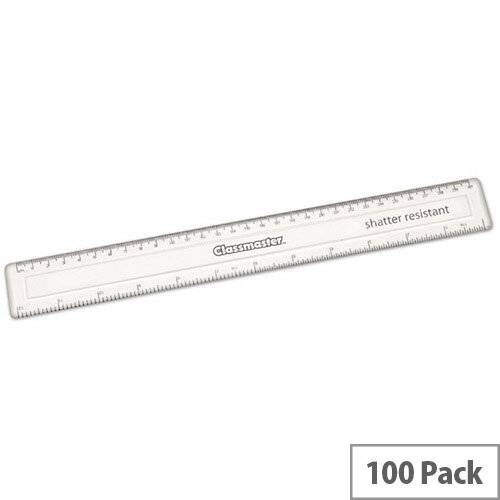 Eastpoint Classmaster Pack Of 100 30Cm Ruler Clear Spr30 100
