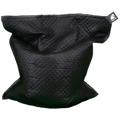 Elephant Jumbo Bean Bag 1750x1350mm Urban Black Quilted