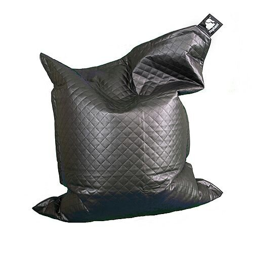 Elephant  Junior Kids Size Bean Bag 1400x1100mm Urban Black Quilted