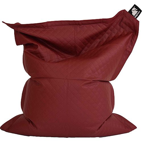 Elephant  Junior Kids Size Bean Bag 1400x1100mm Vibrant Red Quilted